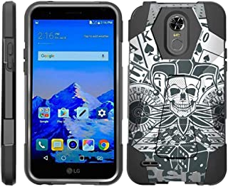 TurtleArmor | Compatible with LG Stylo 3 Case | LG Stylus 3 Case | Stylo 3 Plus [Dynamic Shell] Duo Protection Hybrid Case Impact Rubber Cover Hard Kickstand - Joker Skull