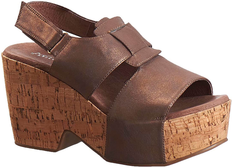 Antelope Women's 928 Metallic Leather Woven Bow Sandals