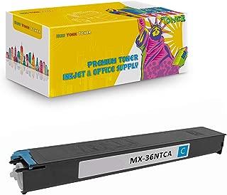 New York TonerTM New Compatible 1 Pack MX-36NTCA High Yield Toner for Sharp - MX 2610   2610N   2615   2640N   3110N   3115N   3140N   3610N . -- Cyan