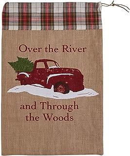 Park Designs Over The River Print Santa Sack