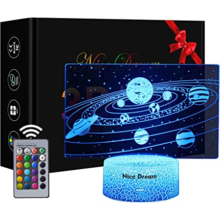 Astronaut 3D Lampe 6 J/ähriger Junge Geschenk Coole Geschenke Baby Junge Geschenk Weihnachten Geburtstag beste Geschenk Spielzeug f/ür Kinder Dimmbare 3D Nachtlicht 16 Farben /Ändern Kinder Geschenke