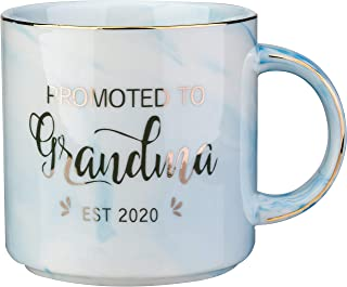 First Time Grandma Gifts-Promoted To Grandma 2020-Ceramic Marble Coffee mug 12 OZ Tea Cups-New Parents Pregnancy Suprise Announcement Prop Cup (blue)
