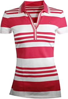 Tommy Hilfiger Women's Split-Neck Striped Polo Shirt