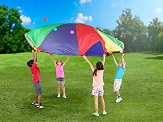 POCO DIVO 12-foot Play Parachute Kids Canopy Children Wind Tent