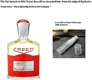 Creed Viking EDP 100% Authentic 2 ml / 0.06 oz Plastic Vial Sample mini Travel Size