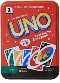 Party Game UNO Card Game (Tin)🃏