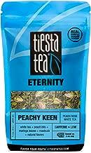 Tiesta Tea Peachy Keen, Peach Rose White Tea, 30 Servings, 1.5 Ounce Pouch, Low Caffeine, Loose Leaf White Tea Eternity Blend, Non-GMO