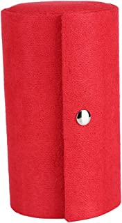 Fdit Retro Cylinder Shaped Jewelry Box Velvet Three-Layer Roll-up Snap Jewelry Storage Organizer Earrings Holder for Girls...
