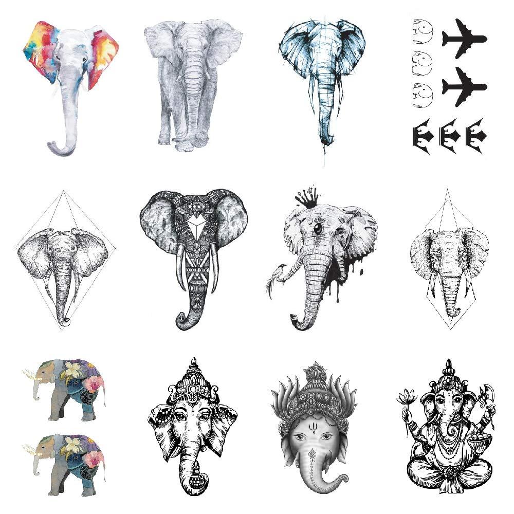 SanerLian Elephant Tattoo Sticker Cartoon Temporary Minneapolis Mall H Tatoo Fake Award-winning store