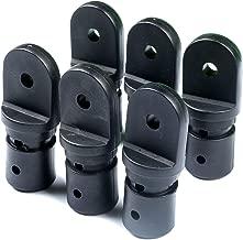 Thorn Boat Bimini Fittings Top Cover Cap Eye End Nylon Black Pack of 6 Black, 3/4 Inch (Internal Version for 1