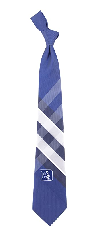 Duke Grid Neck Tie with NCAA College Sports Team Logo