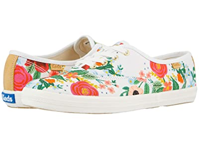 Keds Keds x Rifle Paper Co. Champion Wild Rose (White Printed Canvas) Women