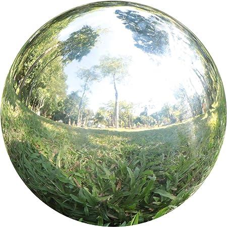 Yeahawo Gazing Balls For Garden Home Outdoor Hollow Sphere Stainless Steel Gazing Globe Mirror Ball 3 Inch Garden Outdoor