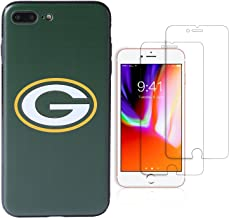 """Sportula NFL Phone Case for iPhone 7 Plus/iPhone 8 Plus (5.5""""), Give 2 Premium Screen Protectors Extra Value Set (Green Bay Packers)"""
