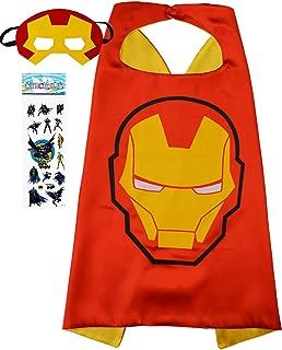 Superhero Costume and Dress Up for Kids - Satin Cape and Felt Mask