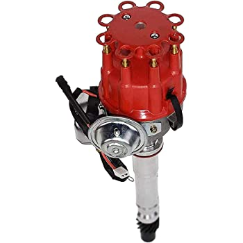 Amazon Com A Team Performance R2r Ready 2 Run Complete Distributor Compatible With Chevrolet Gm Small Block Big Block Chevy Sbc Bbc 283 305 307 327 350 400 396 427 454 Two Wire Installation Red Cap Automotive