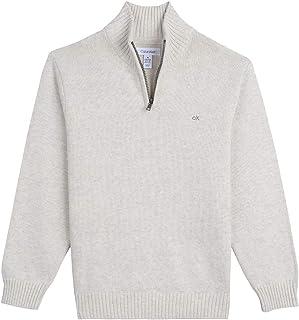 Calvin Klein Boys' Half Zip Sweater