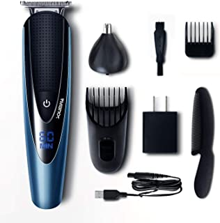 Solimpia Mens Beard Trimmer Cordless Body Hair Trimmer Mustache Trimmer for Men Grooming Kit Warterproof USB Rechargeable