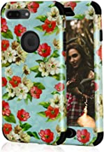 iPhone 7 Plus Case, SUMOON Unique [Flower Series] Hybrid Heavy Duty Three Layer Soft Silicone Shockproof Anti-Scratch Full-Body Protective Case for iPhone 7 Plus Black 8043097