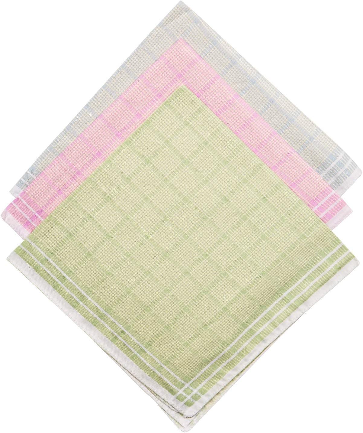 Men's Handkerchief,100% Cotton Classic Hankies.Pack of 6 Gift Set