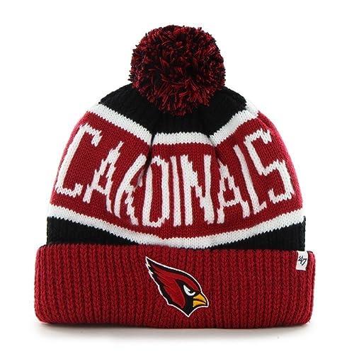 ec86cd641 '47 Brand Calgary Cuff Beanie Hat with POM POM - NFL Cuffed Winter Knit  Toque. '