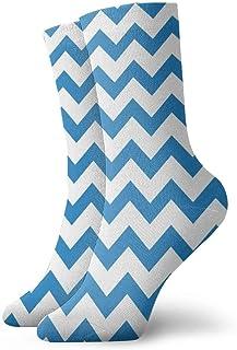 Patrón de onda azul Calcetines casuales transpirables Calcetines deportivos de viaje Yoga Caminar Ciclismo Correr Fútbol 30cm