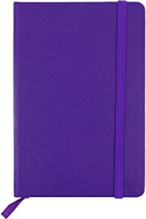 JAM PAPER Hardcover Notebook with Elastic Band - Travel Size Journal - 4 x 6 - Plum Purple - 70 Lined Sheets - Sold Individually