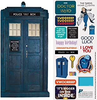 Doctor Who Tardis Quotable Notable - Die Cut Silhouette Greeting Card and Sticker Sheet