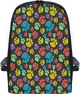 ZZXXB Paw Print Colorful Backpack Kids Toddler Child Preschool Kindergarten Waterproof Book Bags Travel Daypack for Boys and Girls