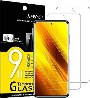 NEW'C 2-Stuks, ScreenProtector voor Xiaomi Poco X3 / Poco X3 Pro/Poco X3 NFC, Gehard Glass Schermbeschermer Film 0.33 mm u...