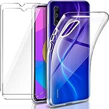 Leathlux Funda Xiaomi Mi A3 + 2 x Protector de Pantalla Xiaomi Mi A3, Transparente TPU Silicona Funda + Cristal Vidrio Templado Protector de Pantalla y Carcasas Xiaomi Mi A3 / Xiaomi Mi CC9E