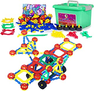 Creative Construction Engineering Builder Kit Games Preschool STEM Educational Set For Boys Age Toy Building Blocks Sets Learning Toys Ball Birthday Gifts For Kids Girls 5 6 7 8 9 10 Years Old