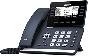 $103 » Yealink T53 IP Phone, 12 VoIP Accounts. 3.7-Inch Graphical Display. USB 2.0, Dual-Port Gigabit Ethernet, 802.3af PoE, Power Adapter Not Included (SIP-T53)