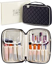 Ellis James Designs Makeup Brush Bag Case Organizer in Black – Professional Designer Make Up Travel Handbag for Make Up Brushes – Stylish & Compact Carrying Holder Storage Handbag Pouch