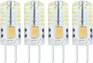Lamsky G6.35 GY6.35 Bi-Pin Base LED Bulb 12V/24V 2.5 Watt Warm White 3000K Non-dimmable 30W Equivalent(4-Pack)