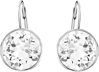 SWAROVSKI Women's Bella Pierced Earrings, White, Rhodium plated