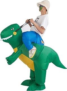 Lulu Home Inflatable Dinosaur T-REX Costume, Halloween Dinosaur Cosplay Costume Adult