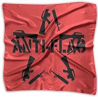 Anti Flag Star Shaped Some Broken Guns Around Printed Square Scarf Scarve Head Wrap Shawl