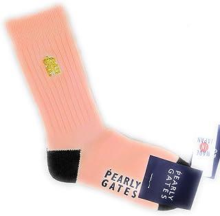 パーリーゲイツ PEARLY GATES レディース ミドル ソックス 靴 サーモン ピンク 厚手