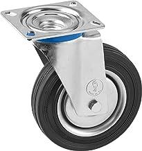 Metafranc Zwenkwiel Ø 200 mm - 140 x 110 mm plaat - massief rubberen wiel - zacht loopvlak - rollagers - 205 kg draagkrach...