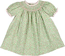 Petit Ami Baby Girls' Bishop Scallop Smocked Angel Wing Dress