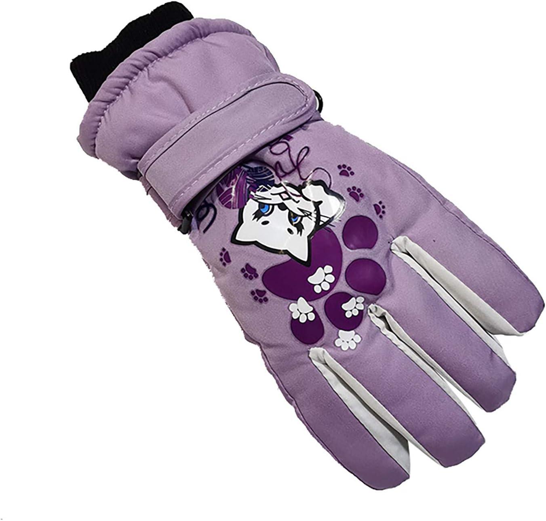 Children Winter Ski Cute Gloves Waterproof Warm Kids Gloves Full Finger Gloves Mittens Sports Cycling Winter Glove