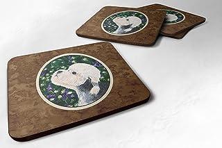 "Caroline's Treasures SS1055FC Dandie Dinmont Terrier Foam Coasters (Set of 4), 3.5"" H x 3.5"" W, Multicolor"