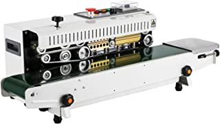 Happybuy FR-770 Continuous Band Sealer 110V Automatic Horizontal Band Sealer with Digital Temperature Control Continuous Sealing Machine for Bags