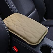 Seven Sparta Universal Center Console Cover for Most Vehicle, SUV, Truck, Car, Waterproof Armrest Cover Center Console Pad, Car Armrest Seat Box Cover Protector (Beige)