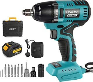 Sponsored Ad – Bsioff Cordless Impact Wrench | Cordless Impact Wrench Torque:400 Nm,0-3200rpm,LED Light (18V, 5.0Ah Batter...