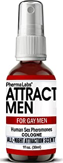 Gay Cologne with Human Pheromones -Instantly Attract Men (All Night Scent) for Men- Human Sex Pheromone 25mg