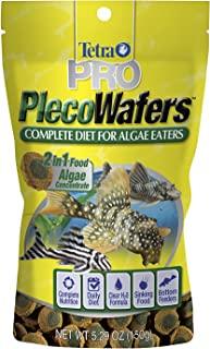 Tetra PRO PlecoWafers 5.29 Ounces, Nutritionally Balanced Vegetarian Fish Food, Concentrated Algae Center (16448)