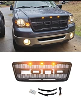 Grille Letters F /& R for Ford F250 F350 F450 2011-2016 Raptor Style Front Bumper Grill letters Gray