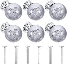 VILLCASE 6Pcs Kast Knoppen Kristal Glas Lade Knoppen Glas Diamant Portiergrepen Handle Knoppen Voor Keuken Badkamer Dresso...